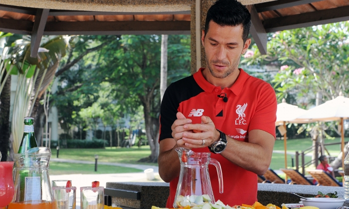 Luis Garcia: He really does drink sangria